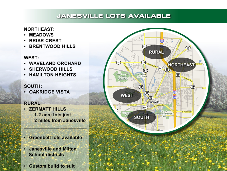 Marklein Builders Lot Information Janesville